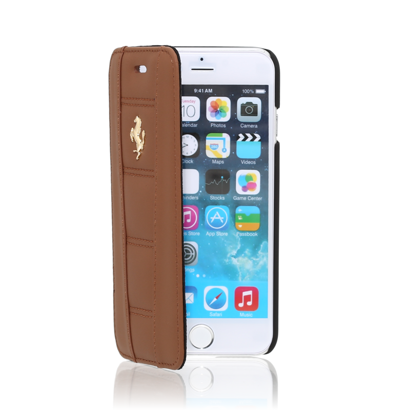 ferrari coque clapet pour apple iphone 6 6s cheval dor camel the kase. Black Bedroom Furniture Sets. Home Design Ideas