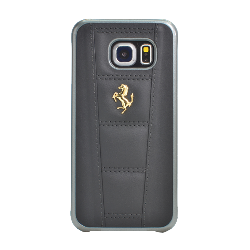 ferrari coque en cuir v ritable pour samsung galaxy s6 edge noir samsung galaxy s6 edge the. Black Bedroom Furniture Sets. Home Design Ideas