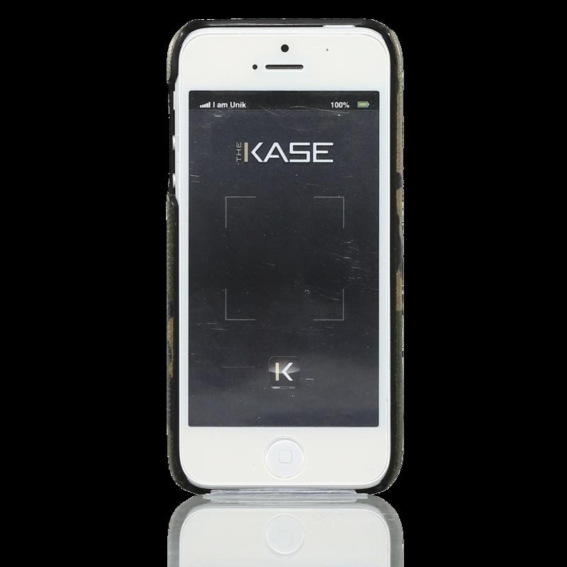 coque pour apple iphone 5 5s 5se cuir ch vre v ritable et imprim camouflage natural apple. Black Bedroom Furniture Sets. Home Design Ideas