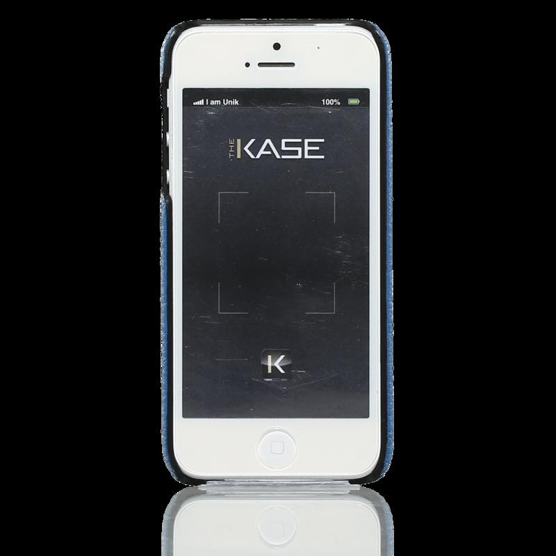 coque pour apple iphone 5 5s se cuir ch vre et l zard bleu apple iphone 5 5s se the kase. Black Bedroom Furniture Sets. Home Design Ideas