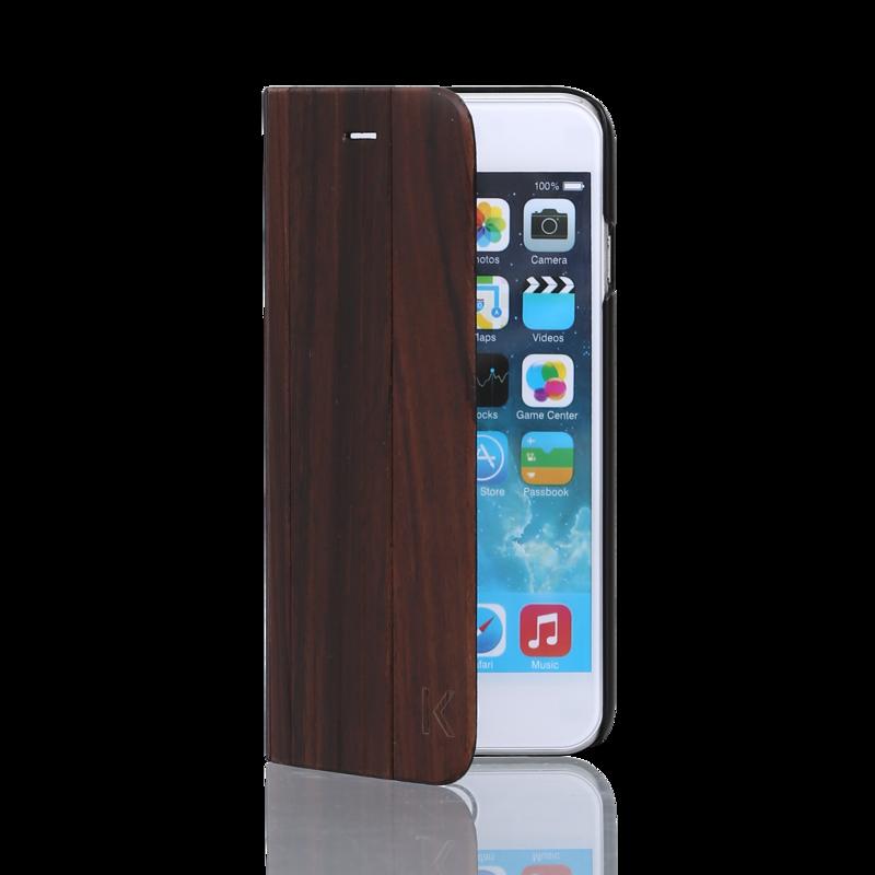 coque clapet pour apple iphone 5 5s se bois naturel de rosewood apple iphone 5 5s se the kase. Black Bedroom Furniture Sets. Home Design Ideas